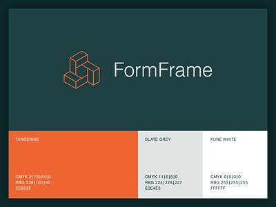 FormFrame startup tech typography design app ux branding ui logo vector icon minimal