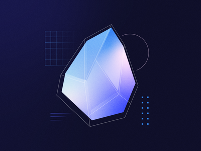 GEMSTONE grid noise texture wireframe cryptocurrency crypto tech minimal gradient gemstone gem abstract