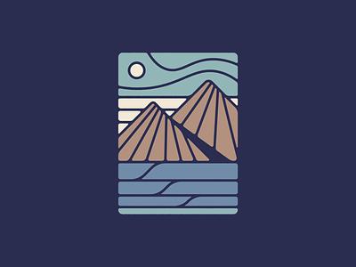 Wave Island mountain outdoors adventure camp apparel shirt ocean wave surf illustrator nature minimal illustration