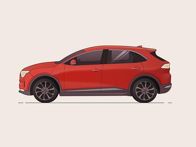 SMART EV smart ev automobile ux ui illustration gradient autonomous electric vehicle car