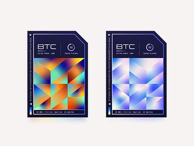 Venture Bond gradient startup bond venture vintage retro typography abstract currency crypto bitcoin texture vector minimal illustration ux