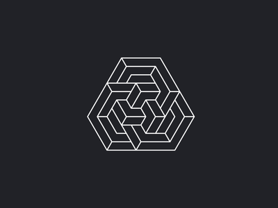 INTERLINK chain link security bitcoin cryptocurrency crypto tech overlap logo lineart polygon vector minimal illustration