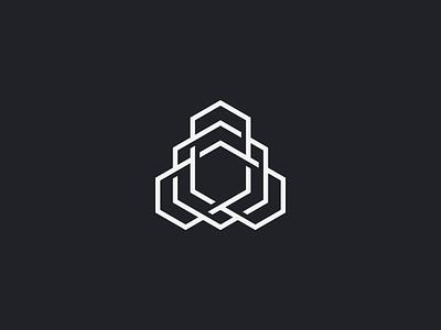 INTERTWINE visual design ui brand branding intricate crypto cryptocurrency technology polygon hexagon abstract tech logomark logo