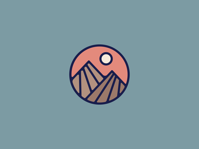 Mini Range branding brand hat apparel hike climb surf trail hiking nature sun outdoors vector mountain illustration