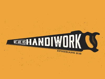 Handiwork - Inkpad saw ink stamp texture bible verse subtle work handiwork josh warren