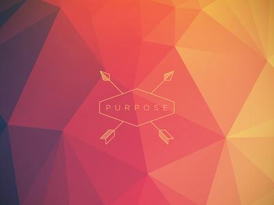 Purpose arrows purpose triangle poly low poly gradient red orange josh warren type typography