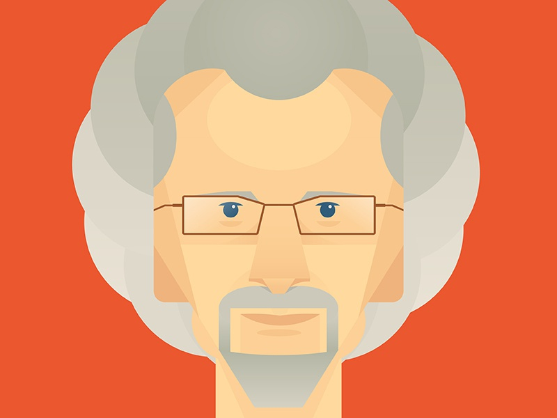 Philip Yancy  illustration face hair glasses portrait illustrator goatee human person josh warren