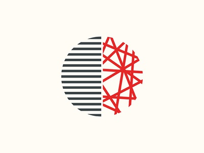 Oneism vs. Twoism book line abstract world black red minimal contrast half josh warren simple clean