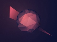 Low-poly sphere