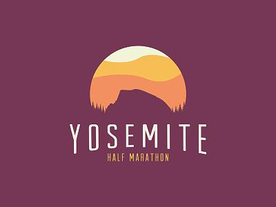 Yosemite half marathon sunset tree half dome national park screen print print shirt nature yosemite