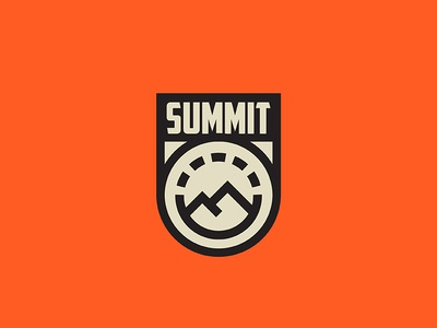 Summit retro minimal illustration outdoors climb summit nature mountain logo badge iocn