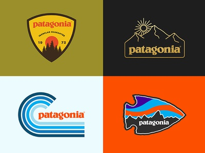 Patagonia rejects outdoors nature retro minimal illustration apparel badge design art patagonia