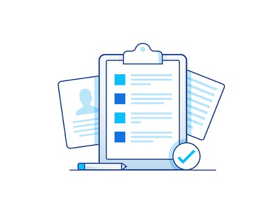 Forms & Docs minimal visual design product design website document forms patient medical illustration iconography icon