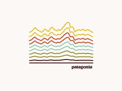 Pata-terrain outdoors nature minimal graphic design design illustration apparel shirt patagonia