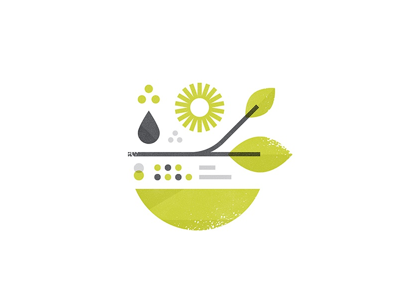 All Natural icon illustration science leaf drop mixing nature