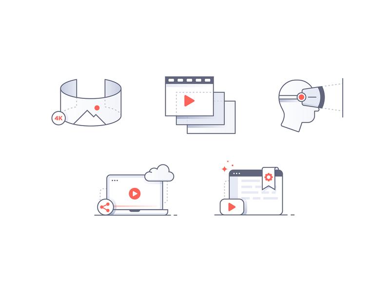 Liveplanet minimal 3d oculus settings cloud illustration illustrator iconography icon video ar vr