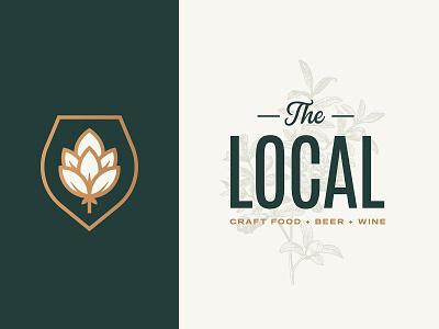 The Local typography plants wine beer restaurant food local branding logo