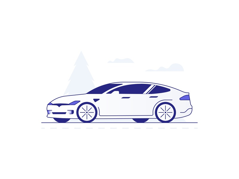 Model S app branding ui  ux design icon illustration insurance auto car models tesla