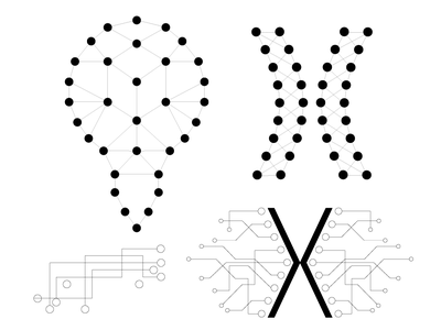 IT Company illustrator it logo design