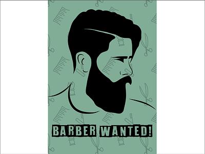 Barber Poster drawing pattern vector illustrator poster