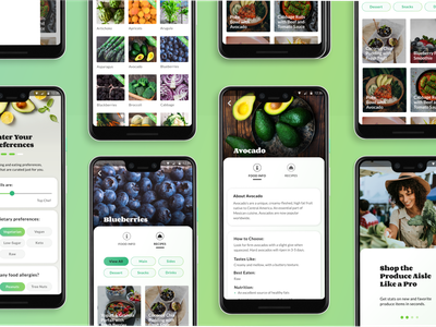 GoodHarvest: Making Seasonal Eating a Snap. flat ux design personalization recipes cooking healthy food uidesign ui android app