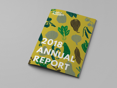 Annual Report Cover typography vegetables print food nonprofit annual report