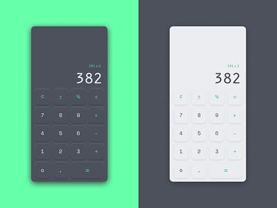 Neumorphic Calculator calculator ui neumorphism neumorphic daily ui 004 dailyui calculator