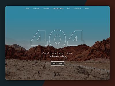 404 Error Page travel dailyui desktop error page error 404 page daily ui 008