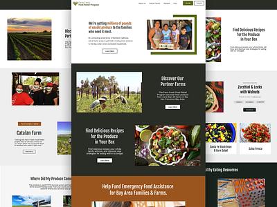 Landing Page: Farm Fresh Food Relief farmers non-profit bootstrap landing page nonprofit