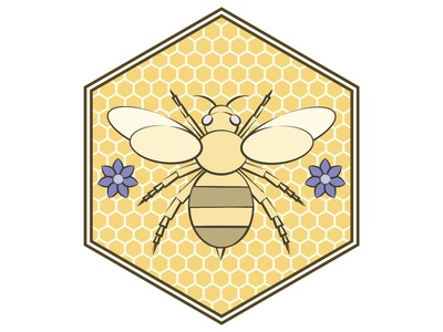 Honey Bee Logo and Pattern