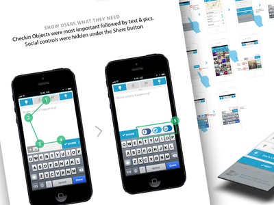 Case Study mobile ios process user flows checkin update wireframes