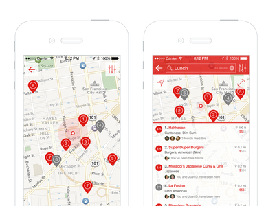 Search Places mobile ios map location find