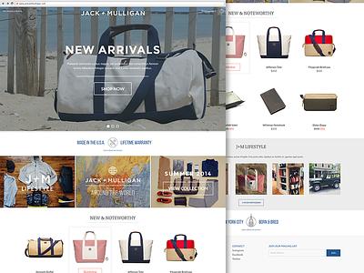 Homepage shopping ecommerce fashion minimal homepage cart bag