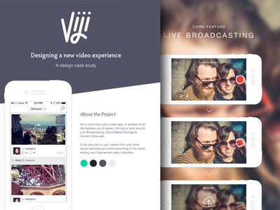 Viji Case Study case study ios mobile video ux wireframe