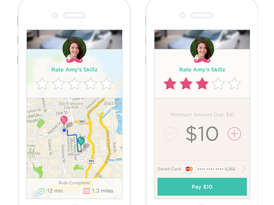 Rate & Pay Screens