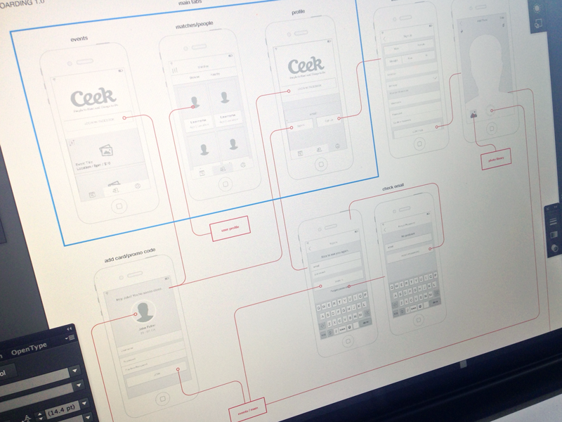 User Flow Wireframes wireframes ios ux onboarding