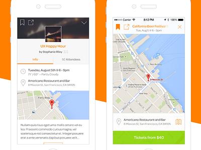 Closeups ios event map location mobile