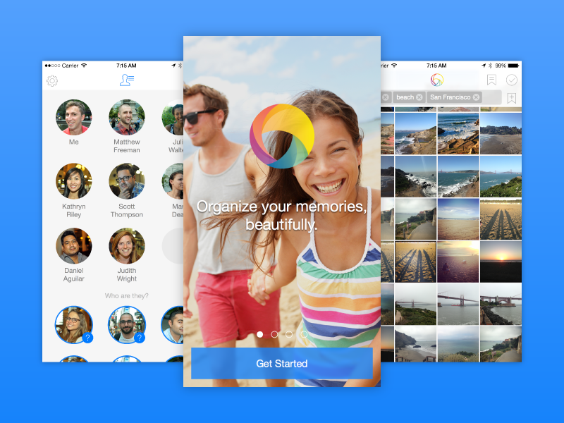 PhotoTime App ios photos friends onboarding
