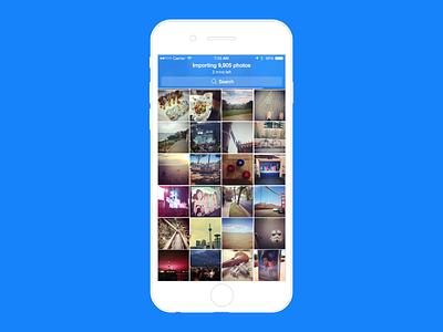 Importing Photos - PhotoTime onboarding photos ios import setup