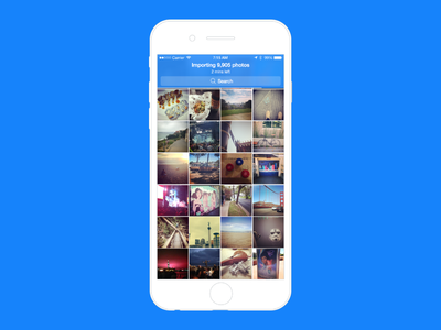 Importing Photos - PhotoTime