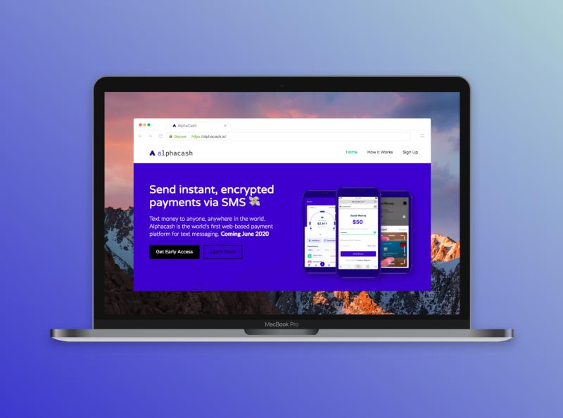 Alphacash Website - Home View