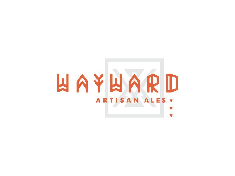 Wayward type beer microbrewery wayward nomad native brand illustration logotype logo