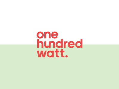 100watt collateral identity branding typeface logomark typography logo