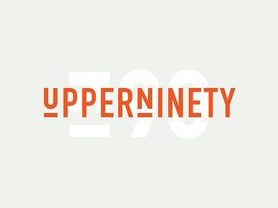 UpperNinety I 90 upper orange typography vector brand logotype identity branding logo