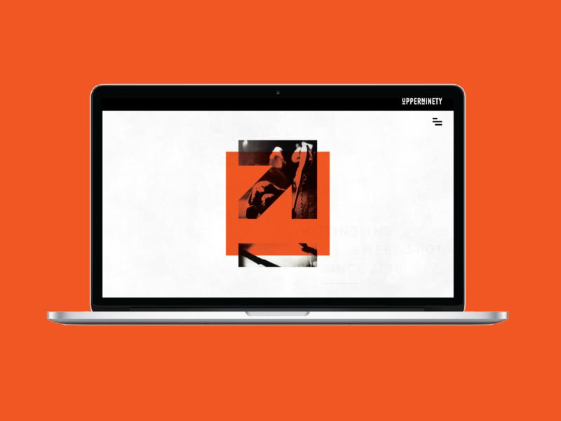 UpperNinety III ui site branding orange illustration web digital identity brand