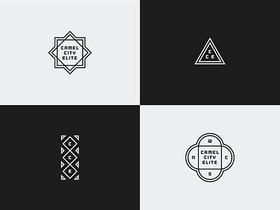 Secondary Marks typography stroke monochromatic white black branding monoweight vector illustration identity brand