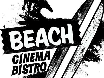 Beach Cinema Bistro logo branding chad dewilde the beautiful design