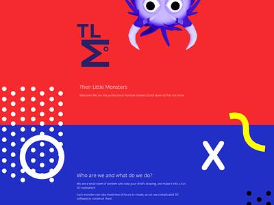 Their Little Monsters Branding & Website colour colourful web design website branding design design logo design logo branding