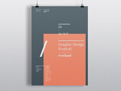 Graphic Design Festival Scotland Poster typography editorial poster design poster graphic design design