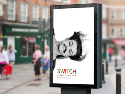 Switch Energy minimal simple playful monochrome photography adcept print design ad billboard advertising advert graphic design